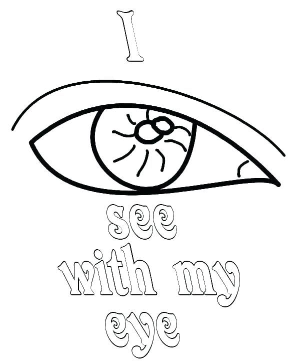 576x720 Eyeball Coloring Page Eye Coloring Page With Eyes Coloring Pages