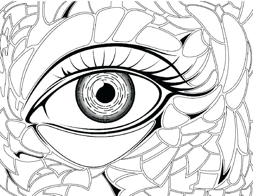 874x676 Eyeball Coloring Pages Eye Coloring Page Eye Brawl Colouring Pages