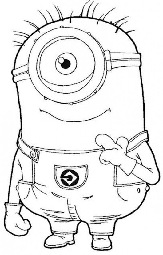 530x825 One Eye Minion Despicable Me Coloring Pages Amanda Might Like