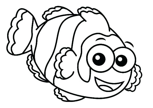 600x425 Clown Fish Coloring Page Fish Coloring Pages Printable Angler Fish