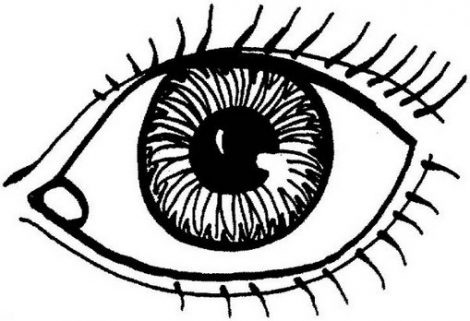 470x321 Eye Coloring Page Exprimartdesign