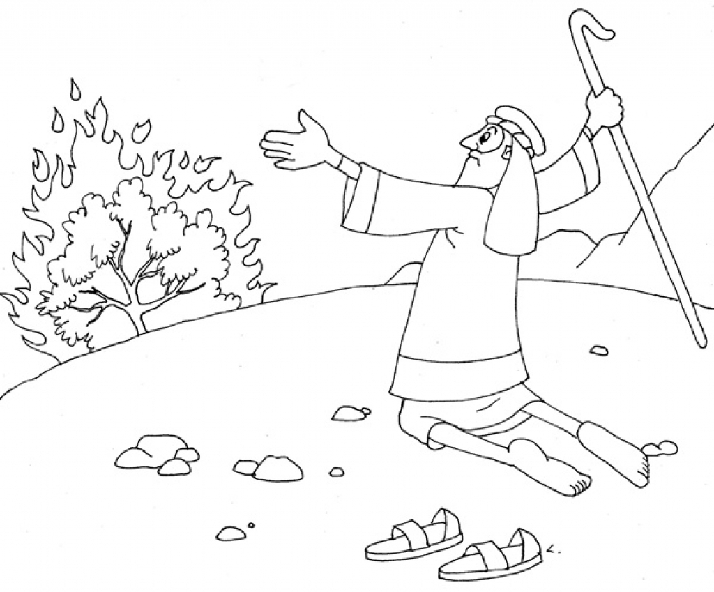 1024x849 best of moses and the burning bush coloring pages design free