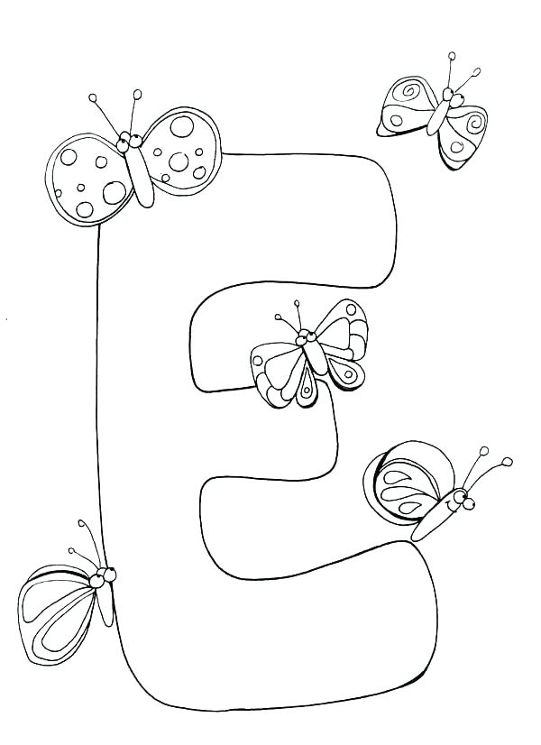 600x826 Letter E Coloring Page E Coloring Page Letter F Coloring Pages