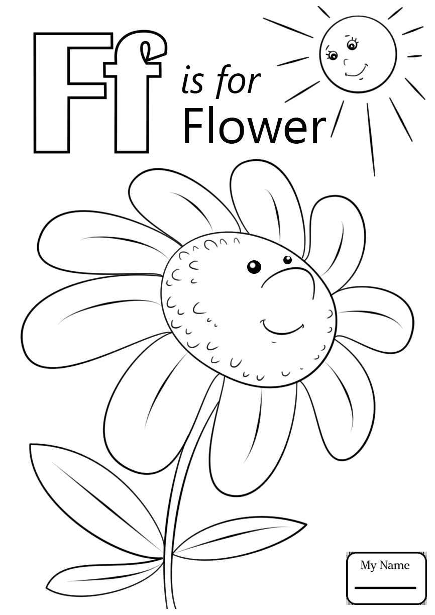 866x1224 Letter F Is For Flower Letters And Alphabet Coloring Page