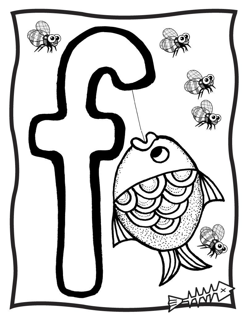 800x1067 Letter F Shaped Circle Coloring Page