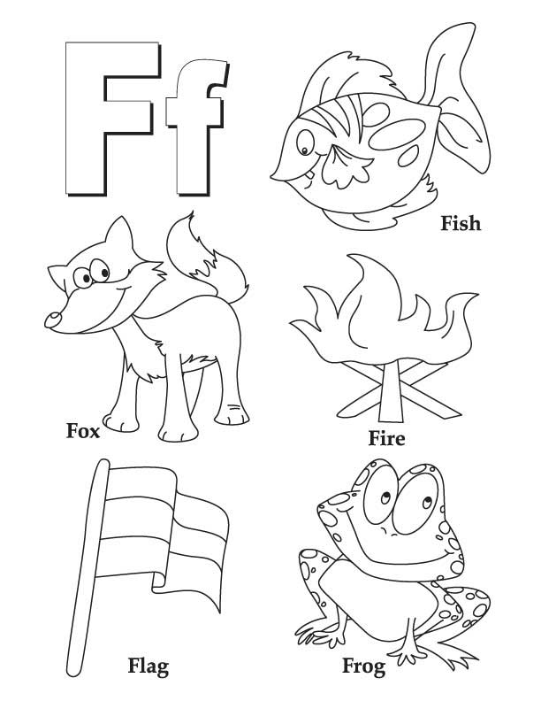612x792 Letter F Coloring Pages