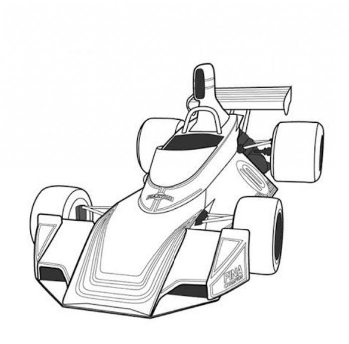 Colouring Pages Formula 1 Racing Cars