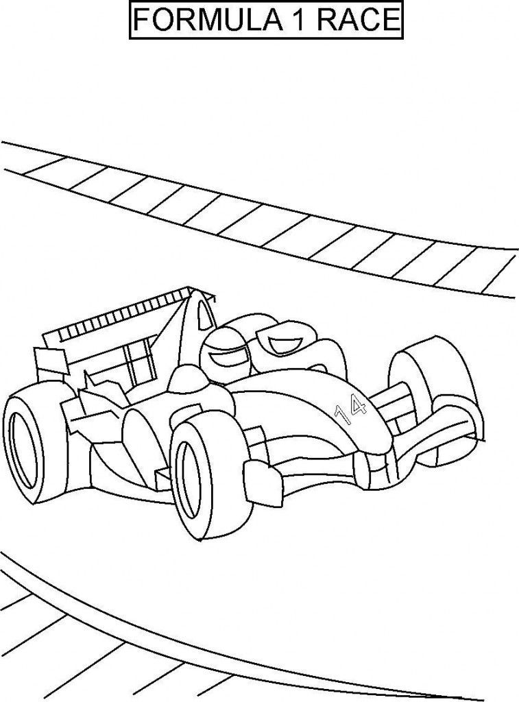 F1 Coloring Pages At Getdrawings Com