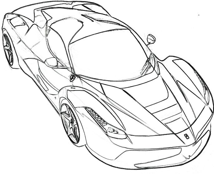 686x557 Ferrari Coloring Pages Wolf Preservation Free Printable General