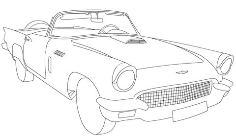 480x282 Ford Pickup Truck Coloring Page