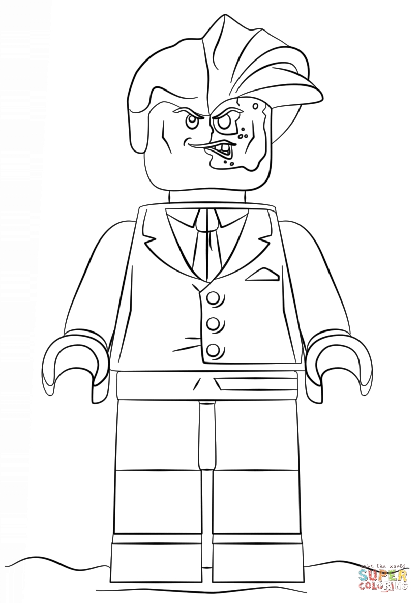 824x1186 Lego Two Face Coloring Page Free Printable Pages Batman New