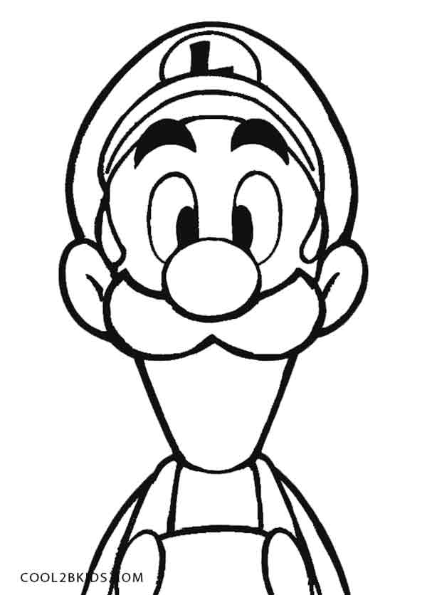 600x836 Printable Luigi Coloring Pages For Kids