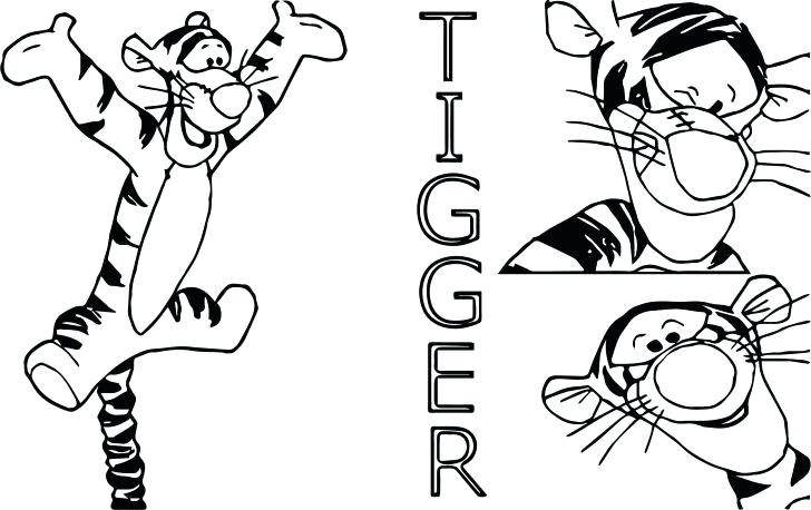 728x458 Tigger Coloring Medium Size Of Coloring Pages Page Sheet
