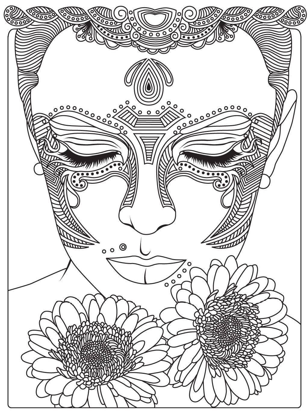 1023x1369 Best Beauty Coloring Page Recolor App Women Image For Adults