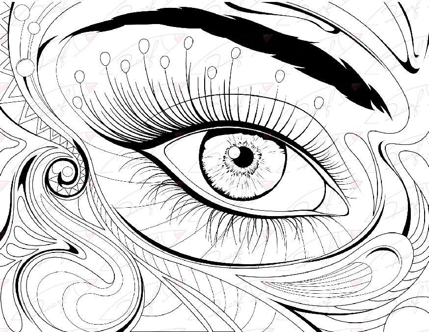 874x676 Eye Coloring Pages
