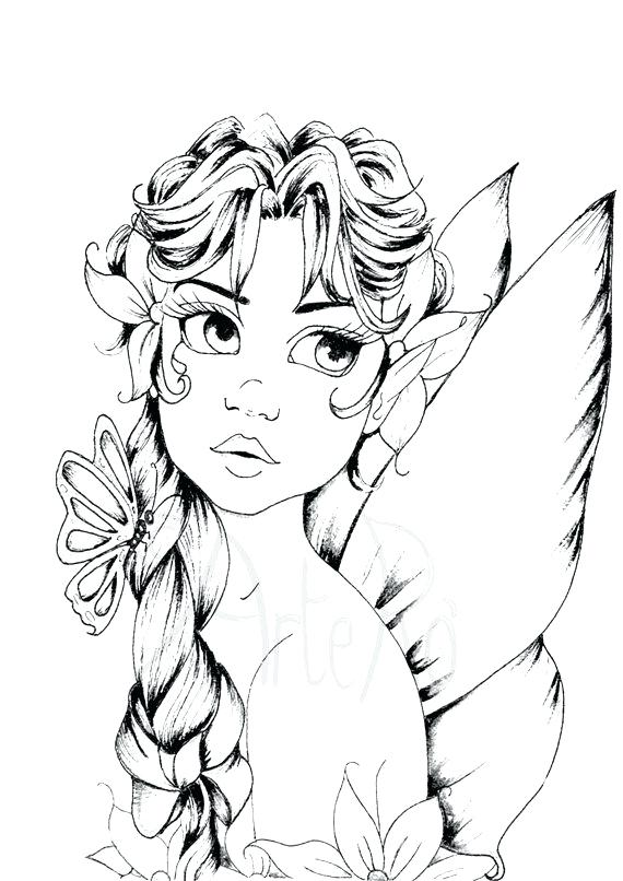 570x806 Baby Fairy Coloring Pages