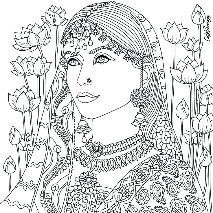 736x736 Coloring Pages For Women