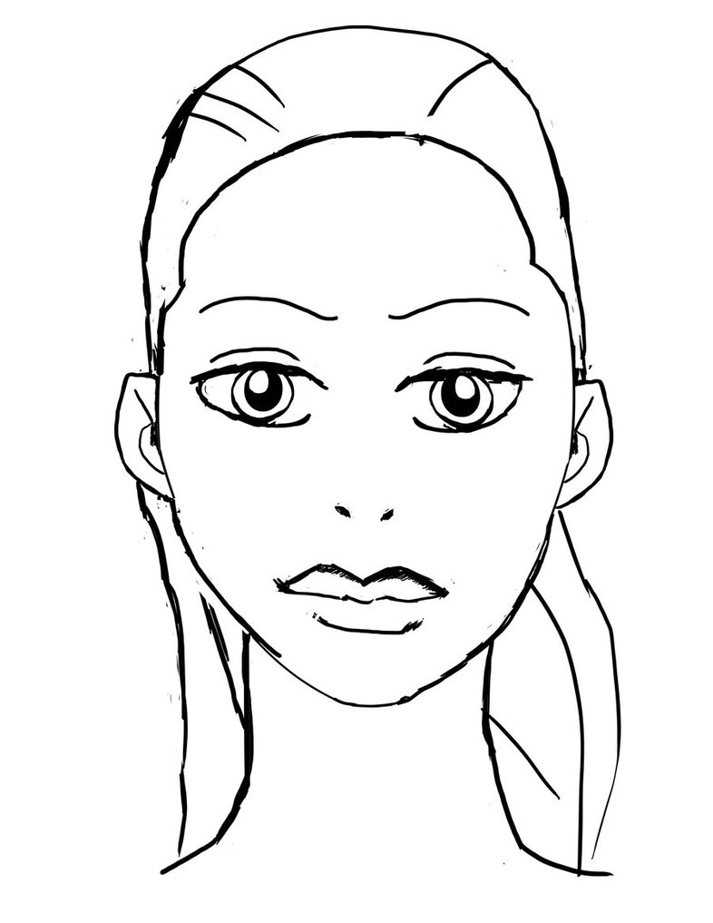 786x1017 Face Coloring Pages Printable