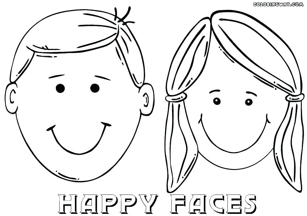 1000x704 Girl Face Coloring Page Smiley Face Coloring Page Smiley Face