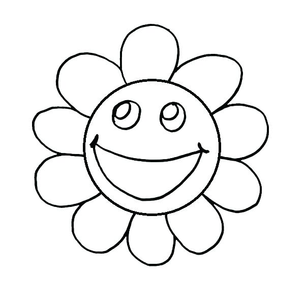 600x600 Happy Face Coloring Page Happy Face Coloring Page Faces Coloring