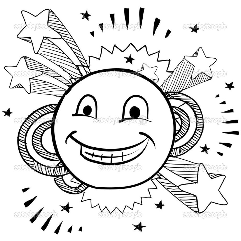 921x921 Smiley Face Coloring Page Printable Image In Pages