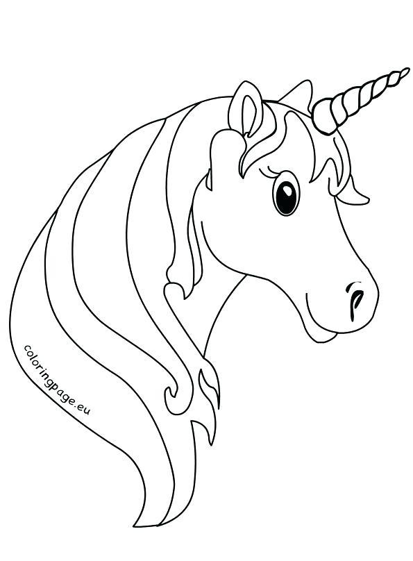 595x808 Unicorn Color Pages Unicorn Color Sheet Unicorn Face Coloring