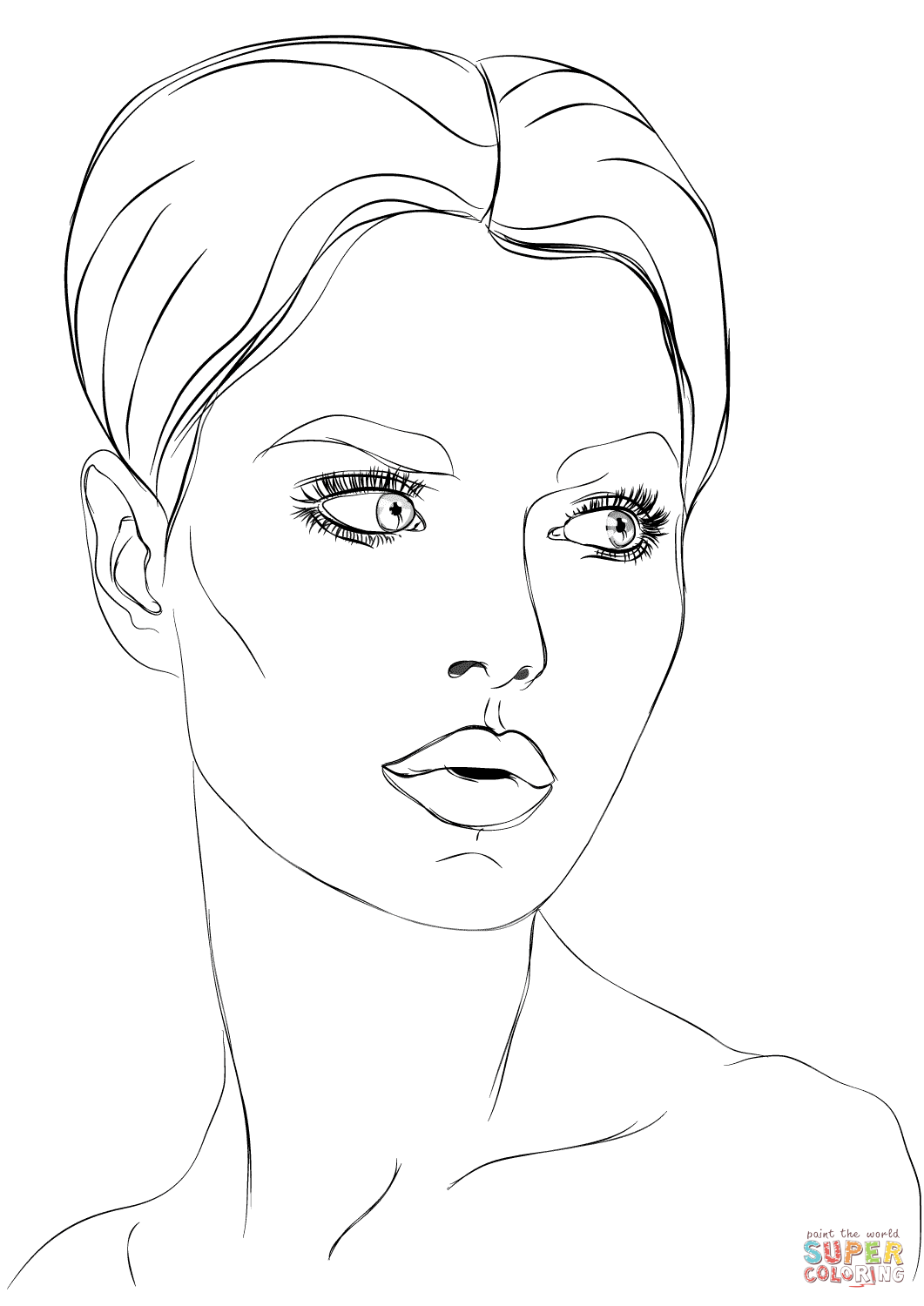 1061x1500 Womans Face Coloring Page Free Printable Coloring Pages Face