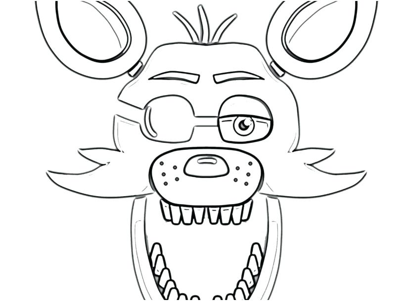 827x609 Cute Foxy Coloring Pages Coloring Pages Photo Foxy Face Coloring