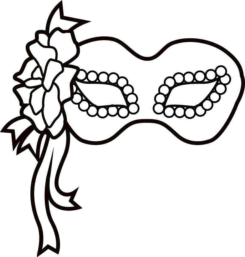 782x820 Coloring Pages Of Masks Mardi Gras Masks Coloring Pages Many