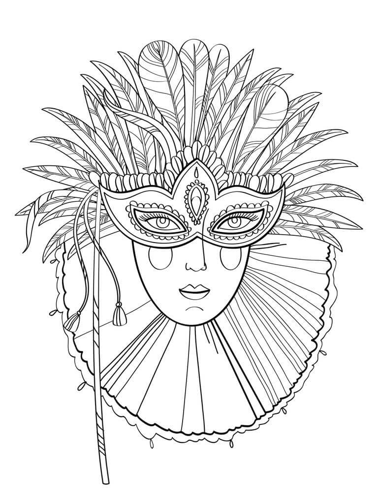 768x1010 Free Printable Mardi Gras Coloring Pages