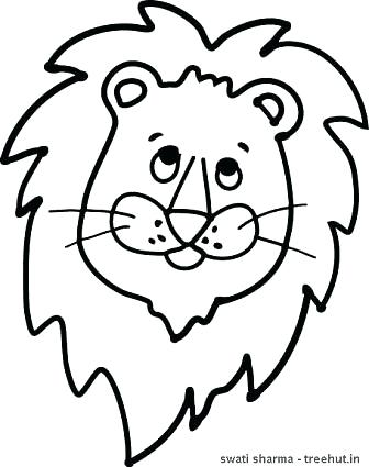 336x425 Lion Face Coloring Page Lion Face Mask Template Coloring Page Top