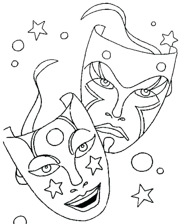 600x750 Mask Coloring Pages Plus Kids Coloring Pages Printable Mask Page