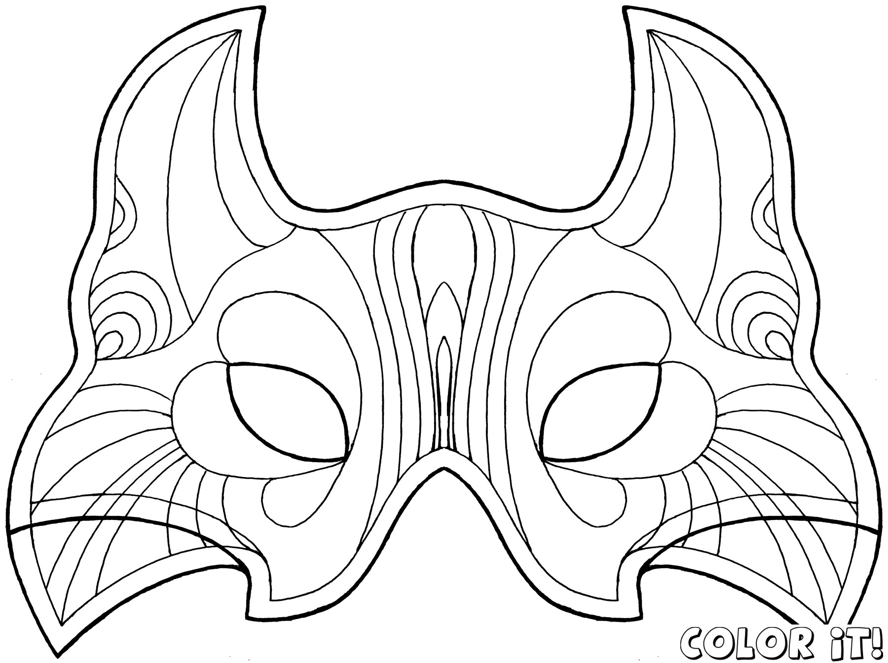 1800x1344 Cat Mask Coloring Page Tgm Sports New