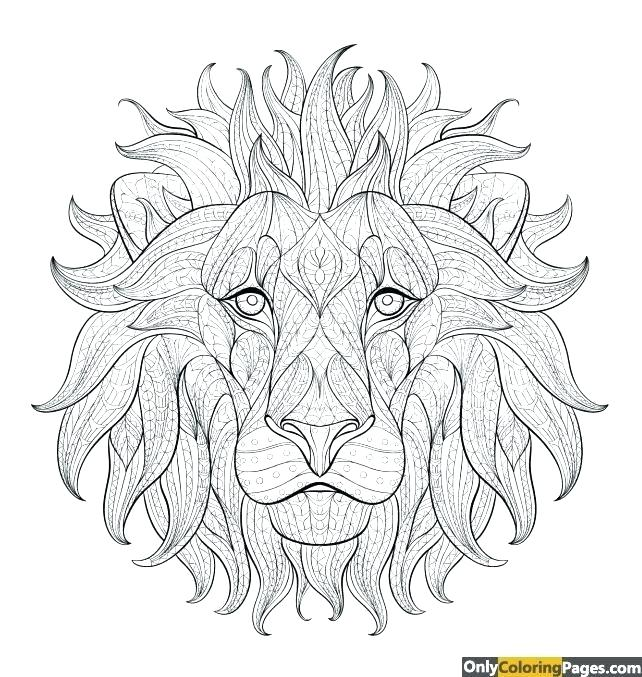 642x677 Coloring Pages To Print Lion King Page For Kids Lion Coloring