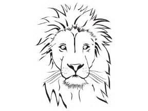288x216 Lion Face Coloring Pages