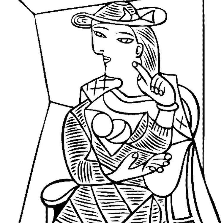 754x750 Coloriage Adulte Picasso G Pixels Face Painting