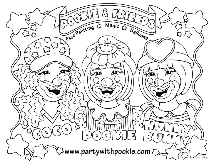 728x559 Clown Colouring Images Funny Circus Clown Coloring Page Clown