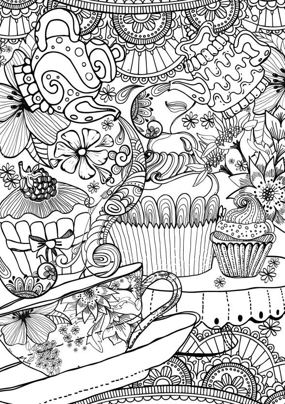 588x833 Free Colouring Page Via Facebook Coloring Pages