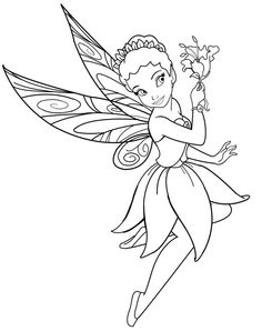 Faerie Coloring Pages At Getdrawings Com Free For Personal Use