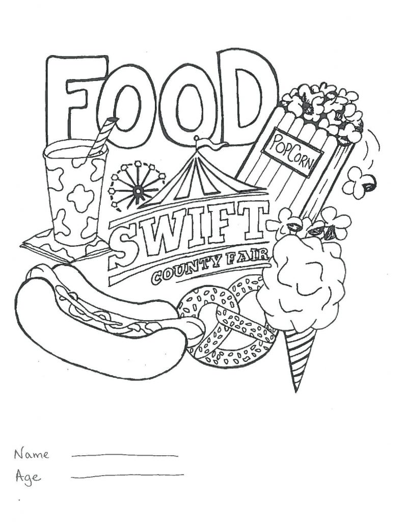 791x1024 Fair Coloring Pages