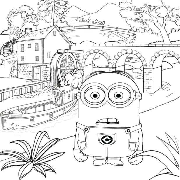 618x618 Fair Coloring Pages Free Printable Despicable Me Coloring Pages