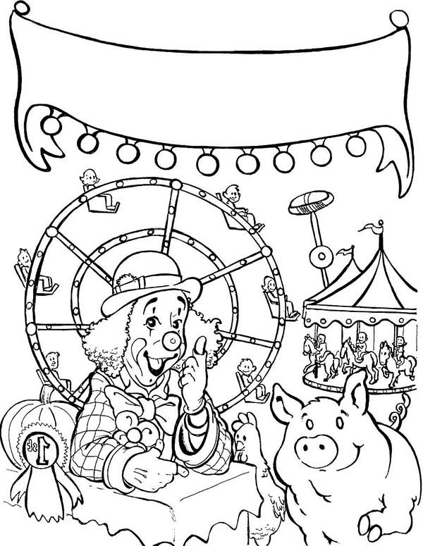 600x775 Free Fair Coloring Pages State Fair Carnival Coloring Pages Best