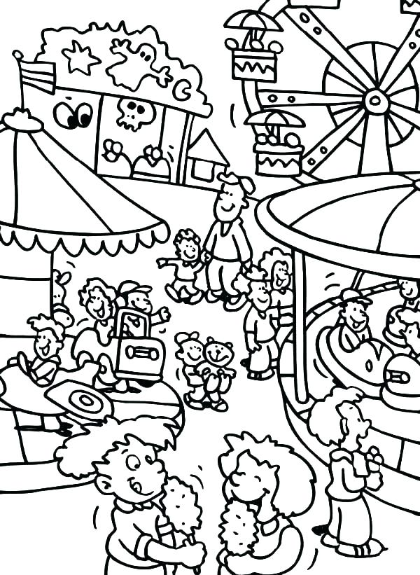 600x821 County Fair Coloring Pages County Fair Coloring Pages County Fair