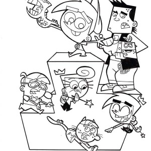 Fairly Odd Parents Coloring Pages At Getdrawings Com Free For