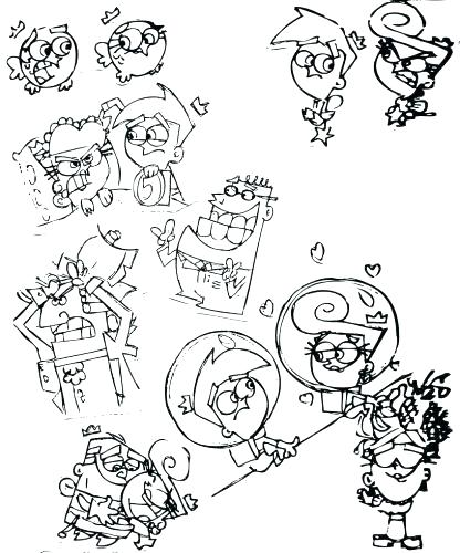 416x500 Fairly Odd Parents Coloring Pages Fairly Odd Parents Coloring