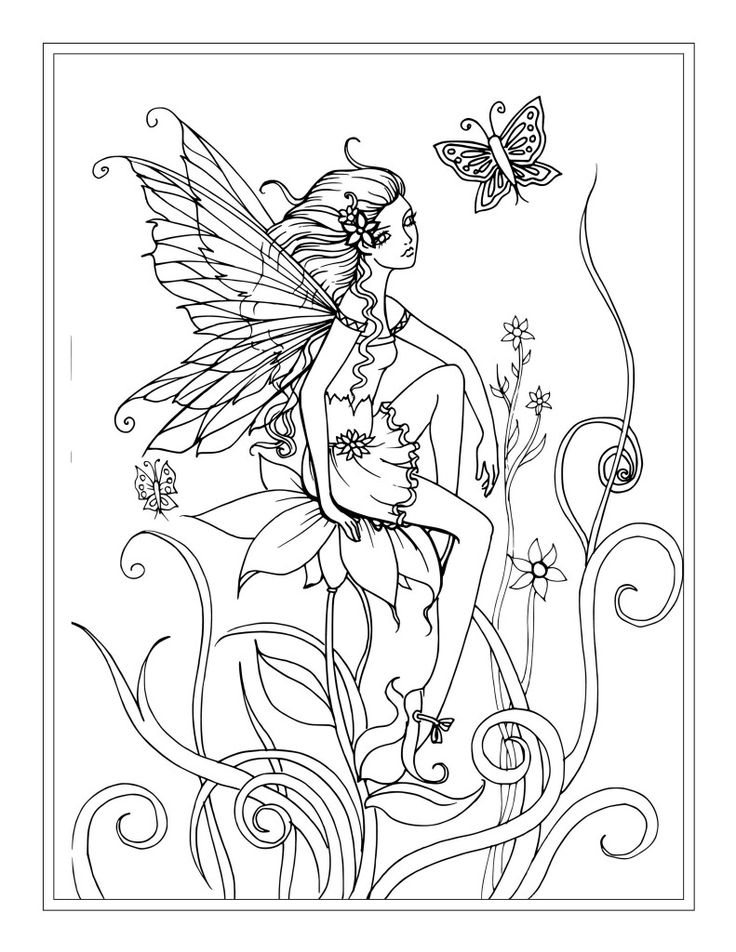 736x952 Fairies Coloring Pages For Adults Fairy Coloring Pages Amazing