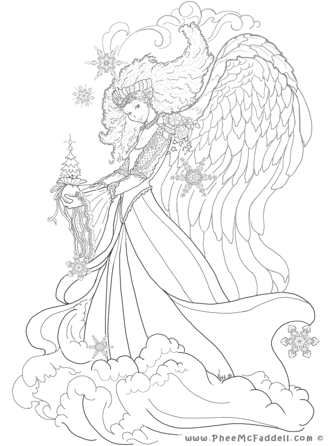 670x900 Fairy Coloring Pages