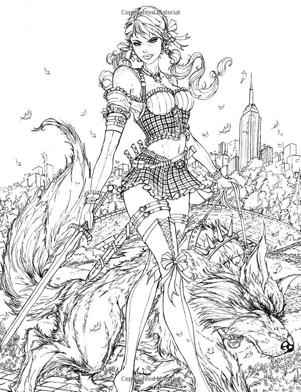 600x781 Fairy Tales Adult Coloring Book