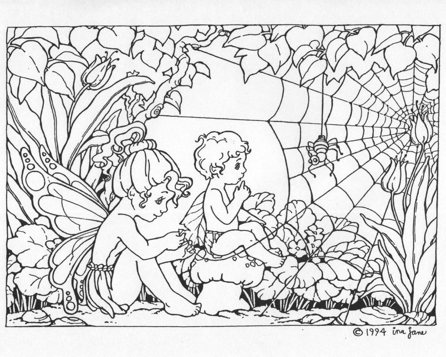 1500x1200 Free Printable Coloring Pages Of Fairies For Adults Coloring