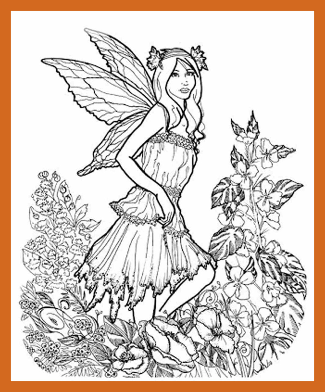 1070x1290 Inspiring Fairy Adult Coloring Pages Lifeafterdeportation Org